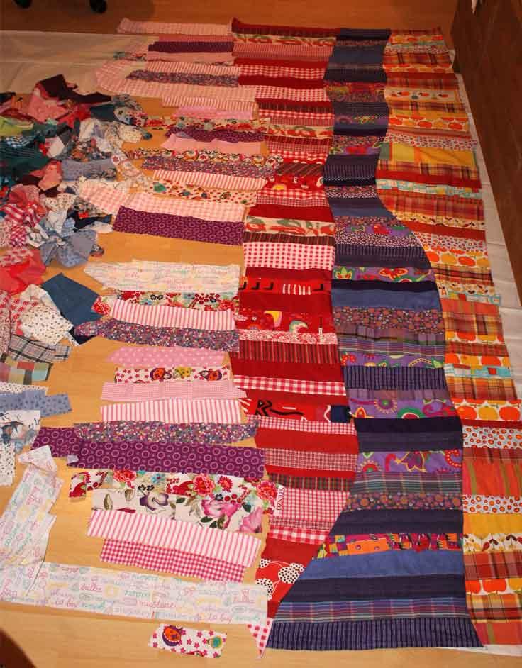 Quiltdeken met restjes stof dress en for Quilt maken met naaimachine
